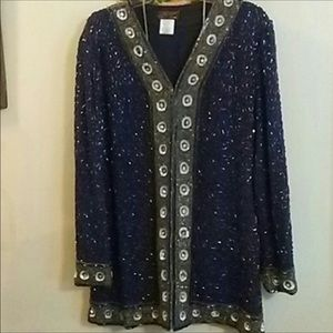 Vintage Eve's Allure Beaded and Sequined Jacket